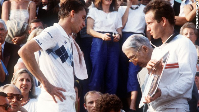 John McEnroe was leading the 1984 French Open by two sets to love but his unpredictable temperament proved his undoing as opponent Ivan Lendl hit back to leave the American holding the runner-up shield. McEnroe admitted his failure to win that day at Roland Garros was one of his biggest regrets.