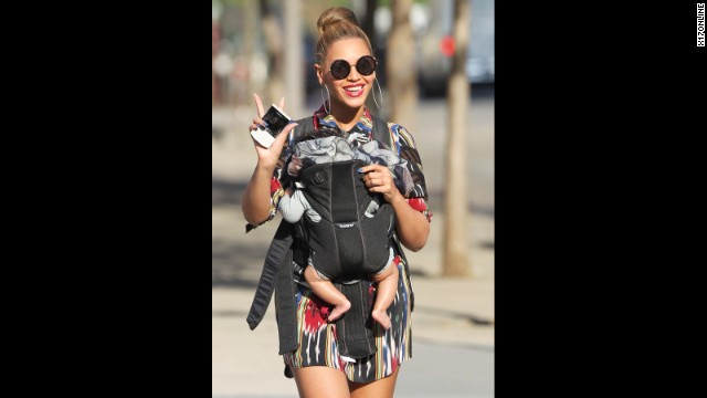 In April 2012, Bey stepped out for a stroll in New York with her daughter, 4 months old at the time.