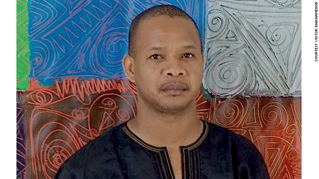 Portrait of award-winning Nigerian visual artist, writer and photographer Victor Ehikhamenor