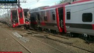67 heridos en un choque de trenes en EEUU