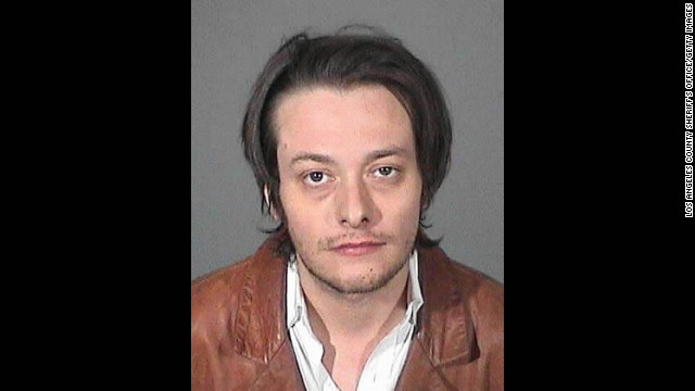 Actor Edward Furlong was arrested again on Friday, May 17, after allegedly violating a protective order filed against him by an ex-girlfriend. Furlong is seen here in a police booking photo after his arrest for alleged domestic violence, the arrest which resulted in the protective order, on January 13, in Los Angeles. 