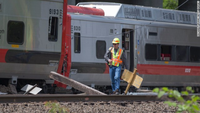 Trains collide in Connecticut