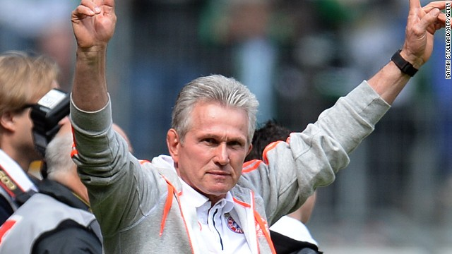 Jupp Heynckes led his Bayern team to a 4-3 victory in his 1,011 and final game in charge in the Bundesliga.