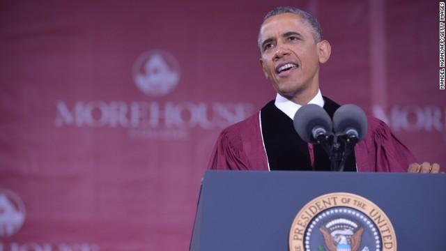 Obama delivers college commencement address