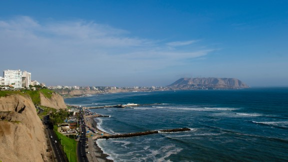 Bay of Miraflores, Lima, Peru