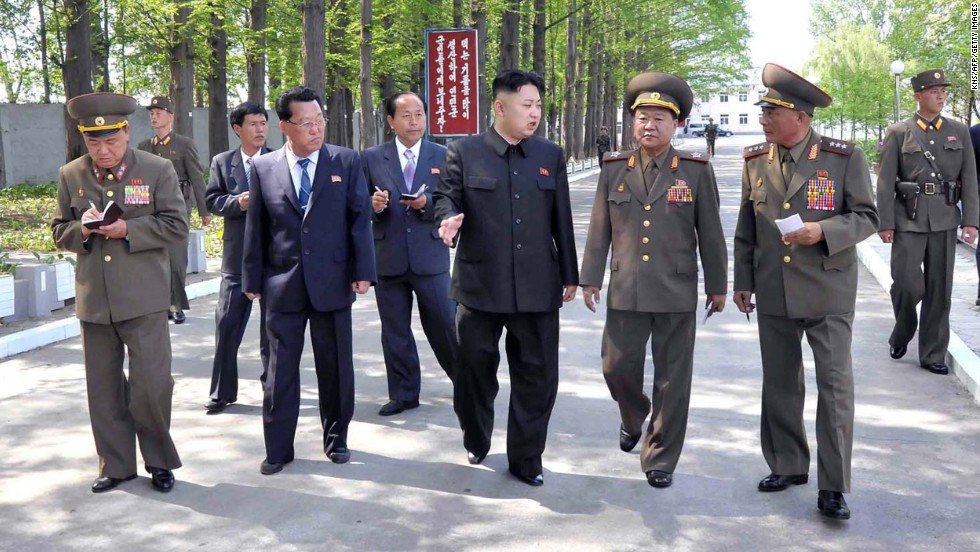 North Korean leader Kim Jong Un inspects a military factory in this undated picture released by the Korean Central News Agency on Friday, May 17. <a href='http://www.cnn.com/2013/05/19/world/asia/north-korea-missiles/index.html'>North Korea launched several short-range guided missiles</a> into the sea off the Korean Peninsula's east coast May 18, South Korea's semi-official news agency Yonhap cited the South Korean Defense Ministry as saying.