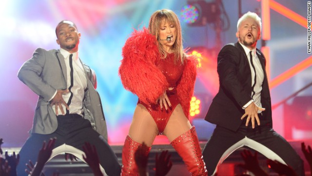 Jennifer Lopez performs.