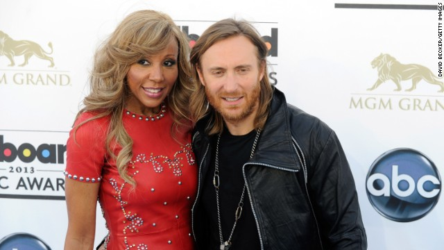 DJ David Guetta and Cathy Guetta arrive.