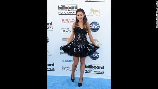 Ariana Grande arrives.