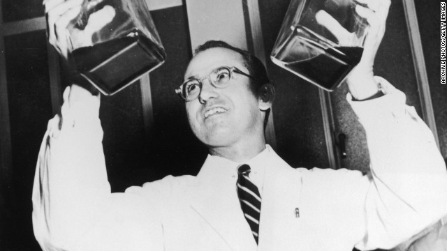 "Dr. Jonas Salk was something of a scientific hero after developing the polio vaccine. Before it was widely used, more than 45,000 Americans contracted the virus each year. By 1962 -- less than 10 years after it was first tested -- the number of cases had dropped to 910, according to the Salk Institute. ""Salk never patented the vaccine, nor did he earn any money from his discovery, preferring to see it distributed as widely as possible,"" his biography on Salk.edu says."