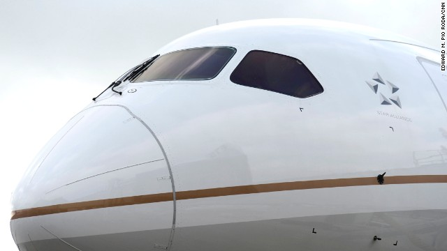 A United Airlines 787 Dreamliner sits on the runway in Houston on Monday as crews prepare for its first commercial flight since the fleet was grounded earlier this year. The Boeing 787 was the first entire airline model to be grounded by the Federal Aviation Administration in more than 30 years.