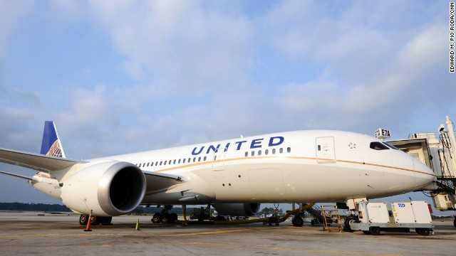 No longer grounded for safety concerns, United Flight 1 flew from Houston's George Bush Intercontinental Airport to Chicago's O'Hare International Airport on Monday.
