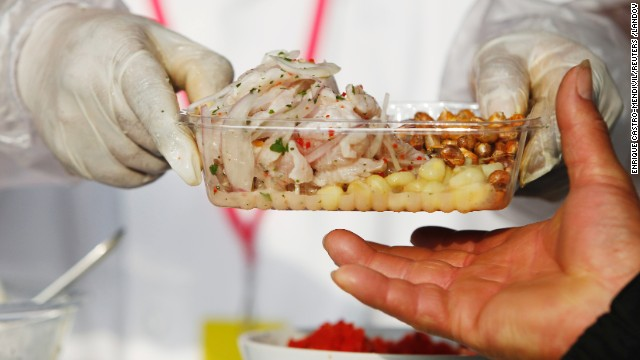 Fresh, raw fish marinated in citrus juices and spiced with chili peppers or other tongue-burning spices, ceviche is Peru's most popular dish and a must-try for any visitor.