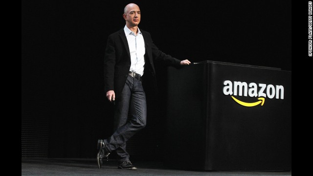 Amazon bought LOVEFiLM, the European counterpart to the movie rental and streaming service Netflix, in January 2011 for £200 million, or $317 million. Netflix had moved into Canada months before and had been announcing plans to expand further internationally. Pictured, Amazon founder Jeff Bezos speaks in September 2011.