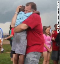 Tearful reunions at elementary school - CNN.com Video