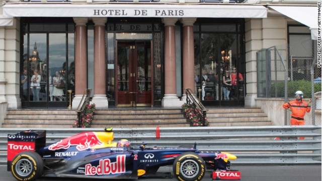 "The prestigious race offers plenty of sightseeing as the F1 cars speed within inches of Monte Carlo's famous landmarks. ""The drivers do see things from a very different perspective,"" says Webber."