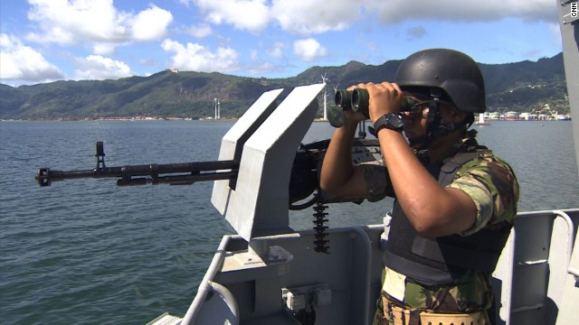Gunboats keep 'blue gold' from pirates...