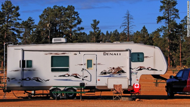 "Recreational vehicles allow their owners to enjoy nature and sleep comfortably at night. ""I get the camping experience with a campfire on the beach, and just steps away, is the air-conditioned camper,"" says Denise Kates."