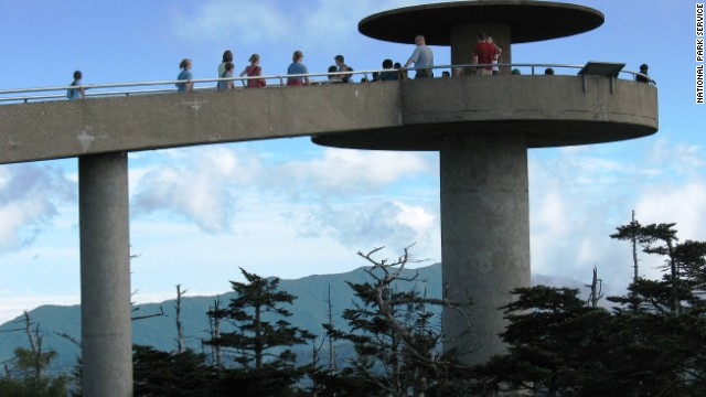 For a spectacular view, walk up to the observation tower at <a href='http://www.nps.gov/grsm/planyourvisit/clingmansdome.htm' target='_blank'>Clingmans Dome</a>. Once you've visited the tower, you can even walk a little bit of the Appalachian Trail.