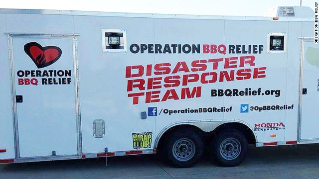 Rescue group brings relief in the form of barbecue