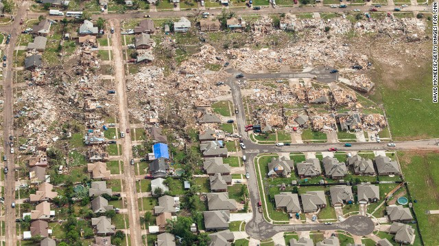 Photos: Destruction from above