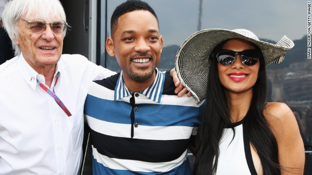 Monaco is a magnet for celebrities such as Hollywood actor Will Smith and pop star Nicole Scherzinger, pictured with Formula One boss Bernie Ecclestone in 2012.