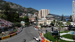Sergio Perez of Mexico and Sauber F1 drives before crashing during qualifying for the Monaco Formula One Grand Prix at the Monte Carlo Circuit on May 28, 2011 in Monte Carlo, Monaco. (Photo by Paul Gilham/Getty Images)