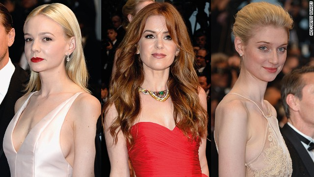 Actresses (L-R) Carey Mulligan, Isla Fisher and Elizabeth Debicki as they arrive for the screening of