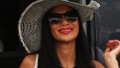 Nicole Scherzinger of the Pussycat Dolls, girlfriend of Lewis Hamilton of Great Britain and McLaren Mercedes arrives in the paddock before the Monaco Formula One Grand Prix at the Circuit de Monaco on May 27, 2012 in Monte Carlo, Monaco. (Photo by Mark Thompson/Getty Images)