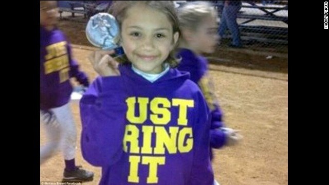 Sydney Angle, 9, died in the twister.