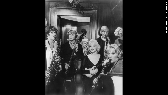 """Some Like It Hot"" (1959): In this classic comedy, Tony Curtis and Jack Lemmon star as a pair of musicians who disguise themselves as ladies in an all-woman band to escape mobsters. They set off for Florida with designs on Marilyn Monroe's Sugar Kane."
