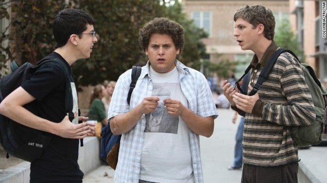 """Superbad"" (2007): A buddy movie set amid the drama of high school, Jonah Hill had a breakout role along with Michael Cera and ""McLovin'"" Christopher-Mintz Plasse as they portrayed a trio of uncool kids whose use of a fake IDs sets off the night of their lives."