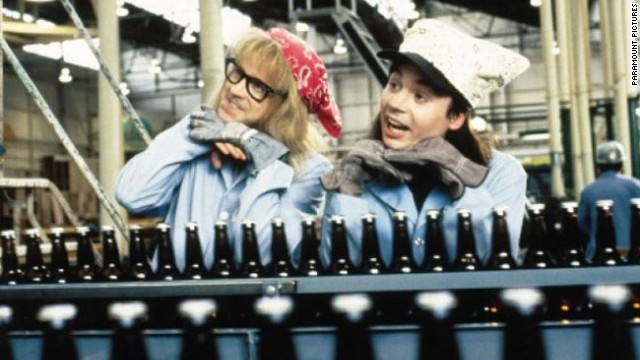"""Wayne's World"" (1992): Another comedy with roots in ""Saturday Night Live,"" Dana Carvey and Mike Myers influenced a generation -- and generated plenty of catchphrases -- as local public access talk show hosts Garth and Wayne."