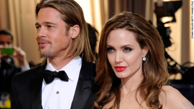 The lives of Brad Pitt and Angelina Jolie, both on and off the big screen, make headlines around the world. Pictured here, Pitt and Jolie arrive at the 84th Annual Academy Awards on February 26, 2012, in Hollywood.