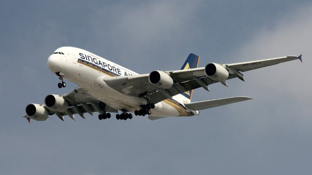 The gigantic four-engine Airbus A380 is the world's largest passenger airplane. It's not too difficult to spot, if you're near its <a href='http://www.airbus.com/aircraftfamilies/passengeraircraft/a380family/a380-routes/' target='_blank'>six destination airports in the U.S.: Washington's Dulles, New York's JFK, San Francisco, Los Angeles' LAX, Houston Intercontinental and Miami International.</a>