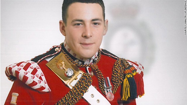 Drummer Lee Rigby, the soldier killed in the Wednesday, May 22, 2013 incident in Woolwich, South East London.