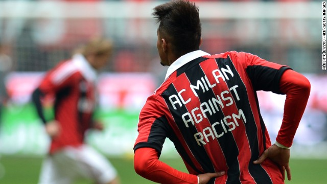 Ghana midfielder Kevin-Prince Boateng was subjected to racist abuse while playing for AC Milan in a January 2013 friendly against lower league Pro Patria. He reacted by walking off the pitch, earning support from across the world.