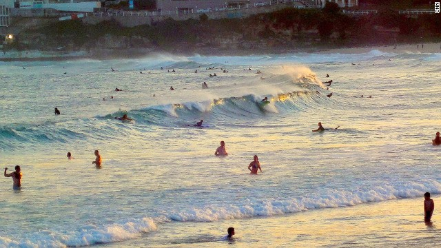 Sydney's Bondi Beach hosted the first ever gay surfers' group surf. The city also has one of the world's biggest and brashest gay pride events.