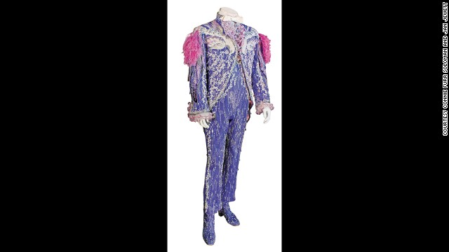 Liberace's purple and pink Phoenix costume