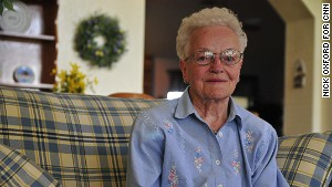 94 year old Nancy Davis\'s home was destroyed for the second time in 14 years by a tornado that ripped through Moore Oklahoma. Davis rode Mondays EF5 tornado out in her storm shelter with several neighbors and is now staying with a friend until she can rebuild her home.