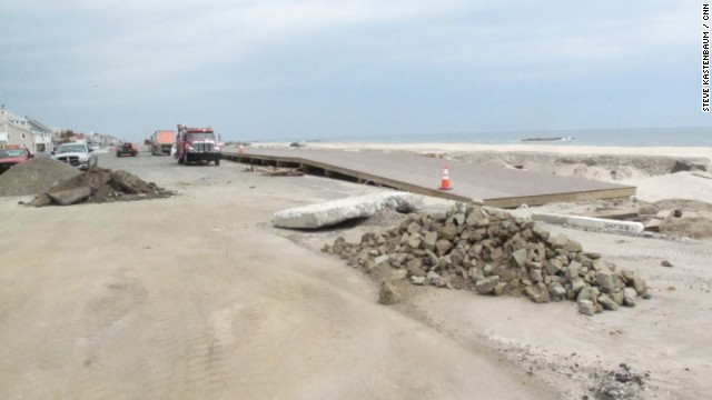 What awaits beachgoers at Sandy-damaged beaches