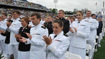 Assaults have 'no place' in military, Obama tells Naval graduates