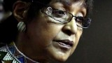 Winnie Madikizela Mandela, the former wife of South African former President Nelson Mandela pictured during the funeral of anti apartheid activist Fatima Meer on 13 March, 2010.