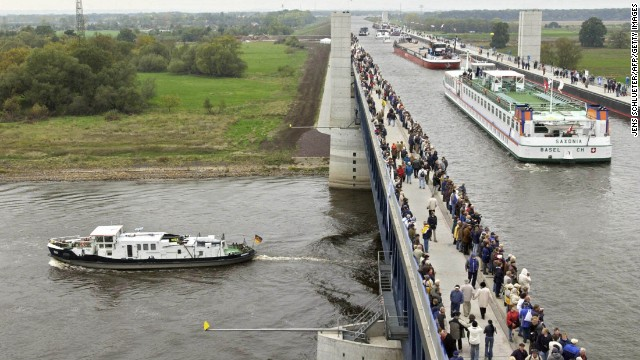 Magdeburg Water Bridge, Magdeburg, Germany.