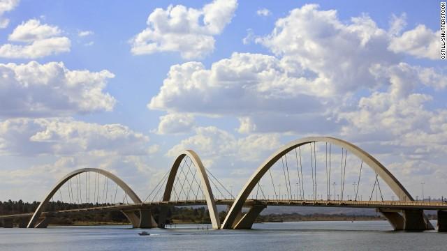 Juscelino Kubitschek Bridge, Brasilia, Brazil.