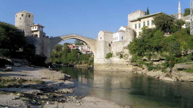 Stari Most, or Old Bridge, Mostar, Bosnia.