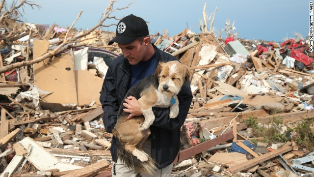 Pets rescued after Oklahoma tornado