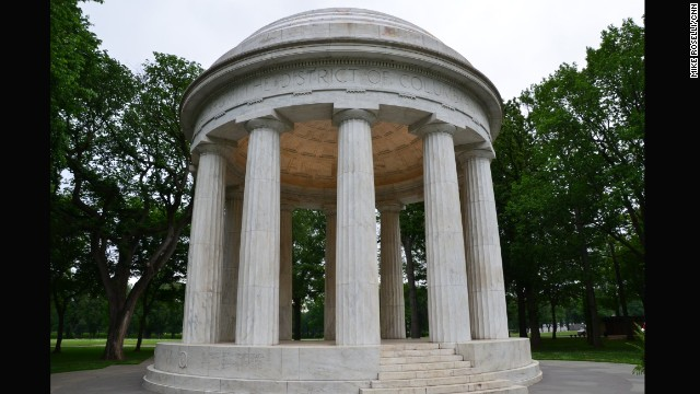 The District of Columbia World War I Memorial near the Tidal Basin.