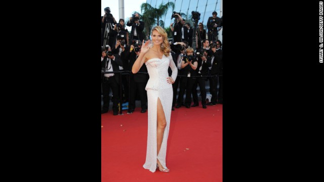 "Heidi Klum attends the Cannes premiere of ""Nebraska"" on May 23."
