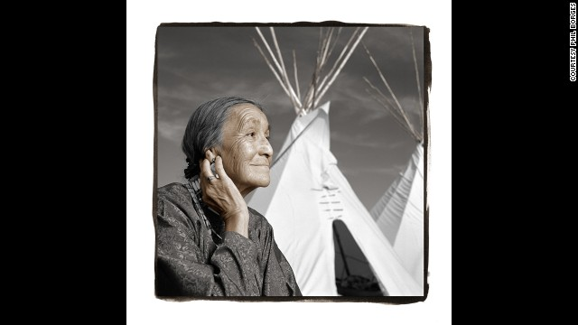 Lucille Windy-Boy, 71 (Rocky Boy, Montana) Lucille, a recent widow, is known across the reservation for the high-quality tepees she sews. Her husband was an important spiritual leader in the territory. When Borges met Lucille, she was surrounded by some of her 42 grandchildren and 32 great-grandchildren. They proudly told him that Lucille and her husband had started college five years ago and earned their bachelor's degrees together, inspiring all the young people in their community.